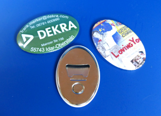 Button - Flaschenöffner mit Magnet